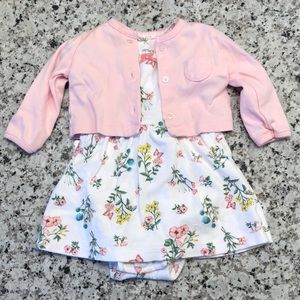 🎉 Carter's Spring or summer dress with cardigan